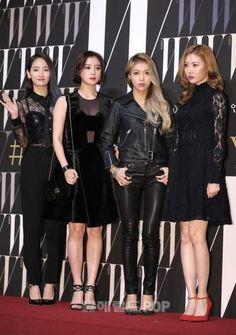 Black Leather Jacket with Leather Pants Fashion of Kim Yubin