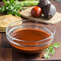 Red Enchilada Sauce is the secret to making good tasting Enchiladas. This recipe is low carb, gluten-free and easy to prepare. Enjoy it on enchiladas, tacos or your morning eggs.