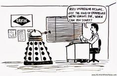 Doctor Who job interview joke
