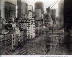 German photographer Michael Wesely has spent decades working on techniques for extremely long camera exposures — usually between two to three years. In the mid-1990s, he began using the technique to document urban development over time, capturing years of building projects in single frames.    The Museum of Modern Art, NYC