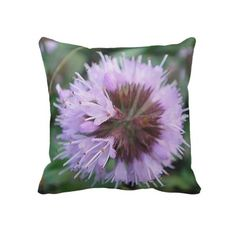 www.zazzle.com/dekosbykarin : Dekokissen of purple bloom ball with violet center pillow  #pillow #Dekokissen #Zazzle #gift #fotosbykarin