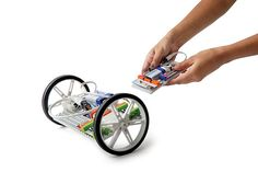 Just one invention that comes right out of the box with the littleBits Gizmos and Gadgets kit