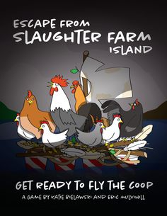 Escape from Slaughter Farm Island - Game Board Game Design, Table Top Design, Board Games, Behance, Island, Gallery, Check, Projects, Fun