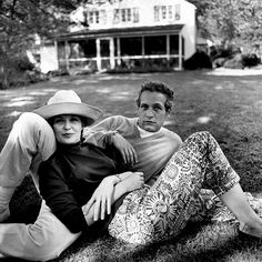 Paul Newman and Joanne Woodward, photographed by Bruce Davidson 1965