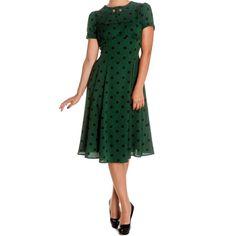 groene vintage jurk