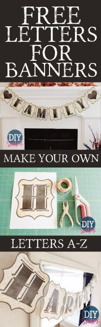Free Printable Banner Letters | Relax Home Decor