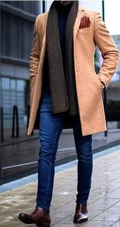 A Well Dressed Man: Coats, Trench Coats, Peacoats, Top Coats Site :You can find Men coat and more on our website.A Well Dressed Man: Coats,. Winter Outfits Men, Stylish Mens Outfits, Casual Outfits, Casual Shoes, Dress Casual, Classy Outfits, Stylish Menswear, Menswear Trends, Stylish Mens Fashion