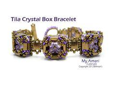 Tila Crystal Box Bracelet Beading Pattern by MyAmari on Etsy, $2.95