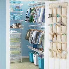baby closet organizer - Bing Images - good idea to hang clear organizer on back of door to store shoes in