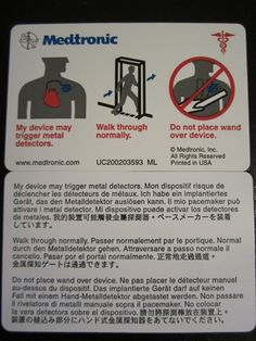 international travel card for those traveling with a pacemaker
