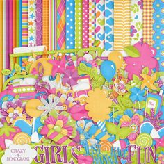 Girls Just Want to Have Fun— Yandex. Free Digital Scrapbooking, Scrapbooking Kit, Digital Papers, Papel Scrapbook, Glitter Flowers, Crazy Girls, Girls Fun, Free Paper, Cool Rooms