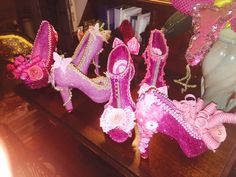 Pink ladies-in-waiting! 2016 Muses shoes.