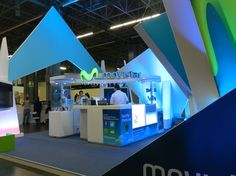 Otra vista del stand movistar