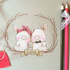 Aida Zamora on Instagram: Piggy Love - Happy Valentine's