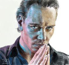 Michael Fassbender Sketch by ArtByManon.deviantart.com