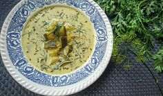 Kuchenne potyczki Alergiczki: Zupa z ogórków małosolnych i cukinii