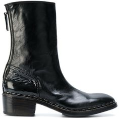 Premiata Men's Black Leather Ankle Boots ($962) ❤ liked on Polyvore featuring men's fashion, men's shoes, men's boots, black, shoes, mens black leather boots, mens black shoes, leather sole mens shoes, mens leather shoes and mens boots
