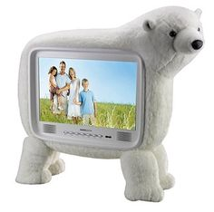HANNspree 19″ LCD HDTV that looks likes a polar bear!