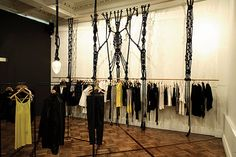 Macrame hanging at Claude Maus Melbourne by Sarah Parkes of Smalltown