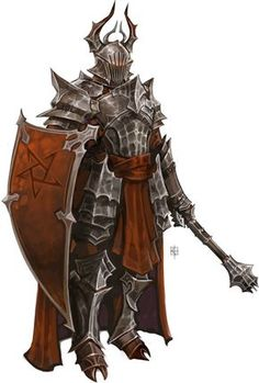 m Paladin Plate Armor Shield Helm Cloak Mace