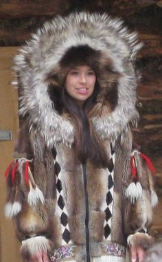 """Traditional Athabascan Coat. Let me reiterate that traditional items like this are not for """"fashion inspiration."""" They are created from tens of thousands of years of tradition, and we've had enough white people steal our items and degrade their meaning that we don't appreciate when you repin this like you can just wear this. You can't. Items like this are for Indigenous only, and anything else is racist. We're not your costumes."""