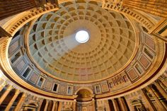 The Pantheon's dome is a unique feat of engineering. Rome Luxury Apartments www.romesweethome.com