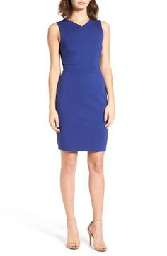 Free shipping and returns on cupcakes and cashmere Auburn Sheath Dress at Nordstrom.com. Minimalist and architectural, this thoughtfully tailored sheath has flattering front seams and a cool triangular cutout in back.