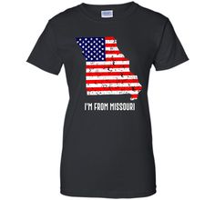 Proud of Missouri-US flag Independence day Tshirt