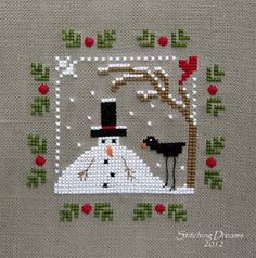 "The chart for this freebie on the French blog ""Jura Point de Croix"". Lots of great finishing ideas at the Stitching Dreams blog site."