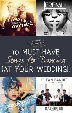 Wedding Songs, Wedding Playlist Ideas, Songs for Your Wedding, Songs To Dance To At Weddings, Weddings, Wedding Playlist, Wedding Music, Dream Wedding, Wedding Tips and Tricks, Popular Pin.