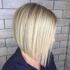 Blunt Blonde Bob For Straight Hair #BobCutHairstylesStraight
