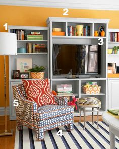 5 Ways To Get This Look: Colorful Family Room