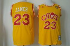 cleveland cavaliers 23 lebron james yellow cavs mitchell and ness jersey 2015 nba finals patch