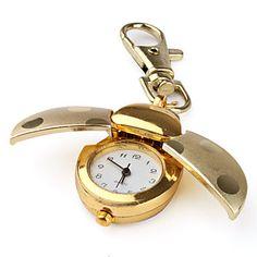 EUR € 4.72 - ouro besouro estilo de quartzo analógico keychain relógio, Frete Grátis em Todos os Gadgets!