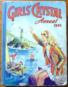 VINTAGE GIRLS CRYSTAL Annual 1951 - Annual for Girls Crystal. The stories and comic strips were aimed at girls, secondary school age from middle class backgrounds 184246168532 Vintage Children's Books, Vintage Comics, Vintage Girls, Girl Film, Picture Story, Picture Books, Summer Books, Books For Teens, Book Girl