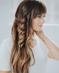 accent braid braided hairstyles ombre hair brunette hair color