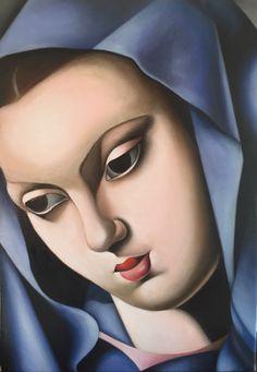 """la Vergine blu"" da Tamara de lempicka"