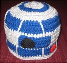 R2D2 crochet had pattern #crochet #r2d2 #pattern