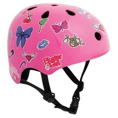 #SFR Features:Covers a 4cm size rangeColoured chin click strapVarious Vibrant finishesCertified to EN1078 safety standardComes with foam insertsSticker sheet containing over 30 stickers!Materials:Shell: ABSInner: EPSThe SFR Essentials sticker helmet comes individually boxed with a sticker sheet containing over 30 stickers to allow hundreds of different combinations to create your own design and style!, fitted as standard with easy-fit foam inserts for a perfect fit. The 11 ventilation holes…