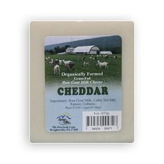 Raw Milk Goat Cheese in this firm cheddar makes a great slicing cheese to serve with fruit and crackers. A farmstead cheese from small sustainable family farming.
