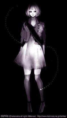 Представляю вашему вниманию подборку работ 24летней японской художницы-иллюстратора под ником Dahlia, известной так же как takenaka.