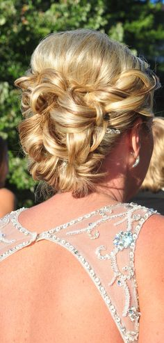 My beautiful up-do for wedding