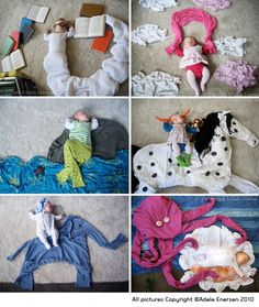 by Adele Enersen - takes photos of her baby while she sleeps and creates scenes for her dreams. Cute concept :)