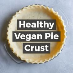 Oil-Free Vegan Pie Crust Gluten-free, vegan, and so easy! Use it with sweet and savory pies. Vegan Pie Crust, Gluten Free Pie Crust, Pie Crust Recipes, Gluten Free Baking, Vegan Gluten Free, Almond Flour Pie Crust, Pie Crusts, Gluten Free Appetizers, Gluten Free Desserts