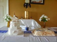 First Communion Cake Table