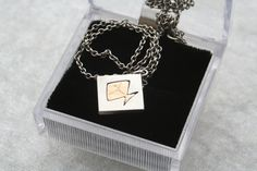Your place to buy and sell all things handmade Little Fish, Silver Diamonds, Diamond Shapes, Sterling Silver Necklaces, Finland, Scandinavian, 1970s, Initials, Jewellery