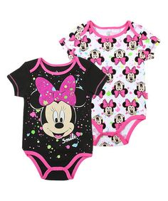 90f065471 Baby Gem Black Floral Bodysuit Set - Infant. Disney Baby ClothesBaby ...