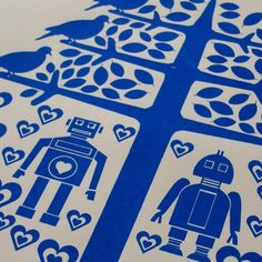 Or robot love in blue?