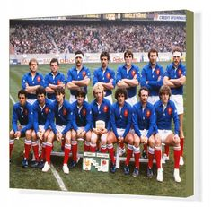 Rugby Union 1982 Five Nations Championship Wales 22 France The France team group before kick-off at Cardiff Arms cm) Fine Art Print Framed, Poster, Canvas Prints, Puzzles, Photo Gifts and Wall Art France Team, Burnley, Poster Size Prints, Wales, Kicks, Christian, England, Products, Photo Puzzle