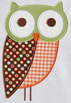 189 Owl 2 Machine Embroidery Applique Design